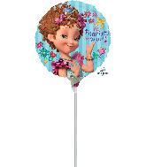 """9"""" Airfill Only Fancy Nancy Foil Balloon"""