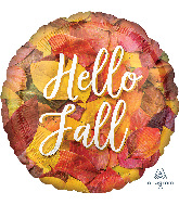 "18"" Hello Fall Leaves Foil Balloon"