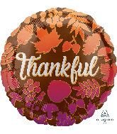 "18"" Thankful Ombré Leaves Foil Balloon"