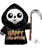 "27"" Jumbo Happy Grim Reaper Foil Balloon"