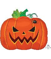 "18"" Junior Shape Frightful Pumpkin Foil Balloon"