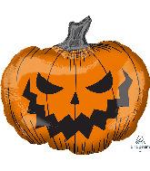 """29"""" Jumbo Hallows' Eve Pumpkin Foil Balloon"""
