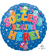 "18"" Trend Success Begins Here Foil Balloon"
