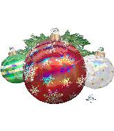 """35"""" Jumbo Iridescent Ornaments Foil Balloon"""
