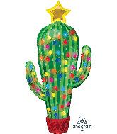 "40"" Jumbo Christmas Cactus Foil Balloon"