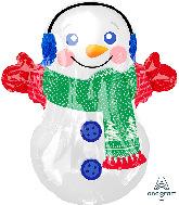 "21"" Junior Shape Adorable Snowman Foil Balloon"