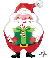 """20"""" Junior Shape Jovial Santa Foil Balloon"""