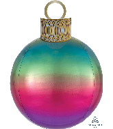 "20"" Ombre Rainbow Orbz Ornament Kit Foil Balloon"