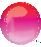 "16"" Ombre Orbz Red & Pink Foil Balloon"