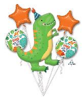 Bouquet Dinomite Birthday Party Foil Balloon