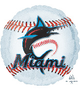"18"" Miami Marlins Foil Balloon"
