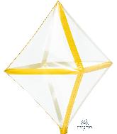 "25"" X 15"" Gold Trim Anglez Foil Balloon"