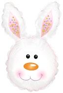 "31"" Bunny Head White Foil Balloon"