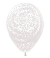 "11"" Betallic Graffiti Frosty Clear Marble Latex Balloons"