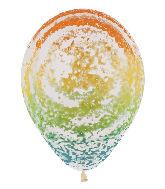 """11"""" Betallic Graffiti Rainbow Marble Latex Balloons"""
