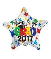"""18"""" Foil Balloon Congrats 2017 Grad Prismatic"""