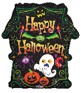 "18"" Halloween Scary Haunted House Foil Balloon"