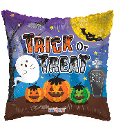 "18"" Trick Or Treat Pumpkins & Ghost Foil Balloon"