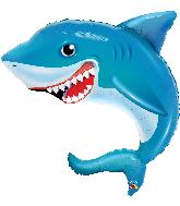"36"" Smilin' Shark Foil Balloon"
