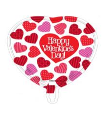 "18"" Happy Valentine's Day Many Heart Foil Balloon"