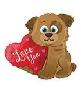 """18"""" I Love You Puppy Dog Shape Balloon"""