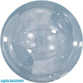 5 Inches Aqua Bobo Bubble Balloons (10 Pack)