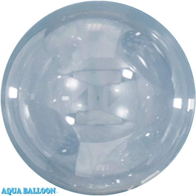 18 Inches Aqua Bobo Bubble Balloons (10 Pack)
