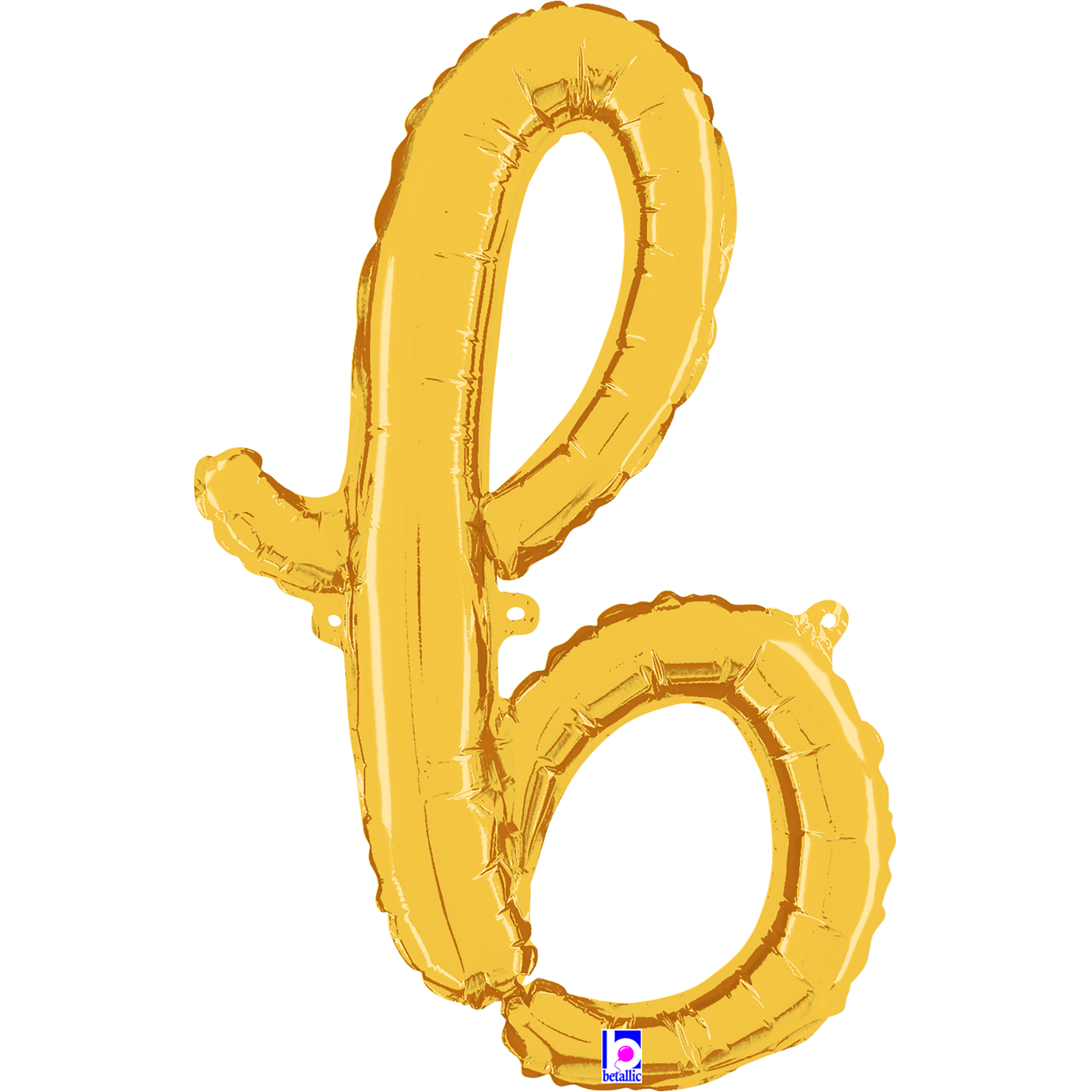 "24"" Air Filled Only Script Letter ""B"" Gold Foil Balloon"