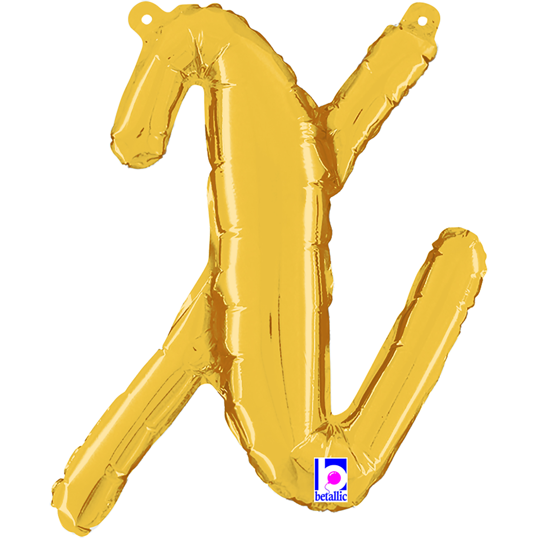 "14"" Air Filled Only Script Letter ""X"" Gold Foil Balloon"