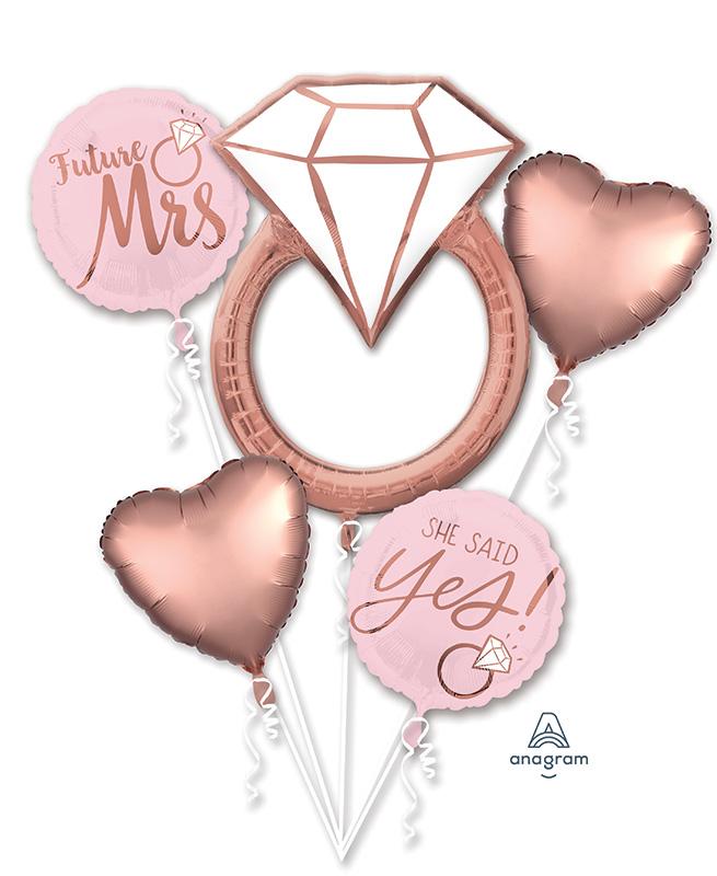Bouquet Blush Wedding Foil Balloon