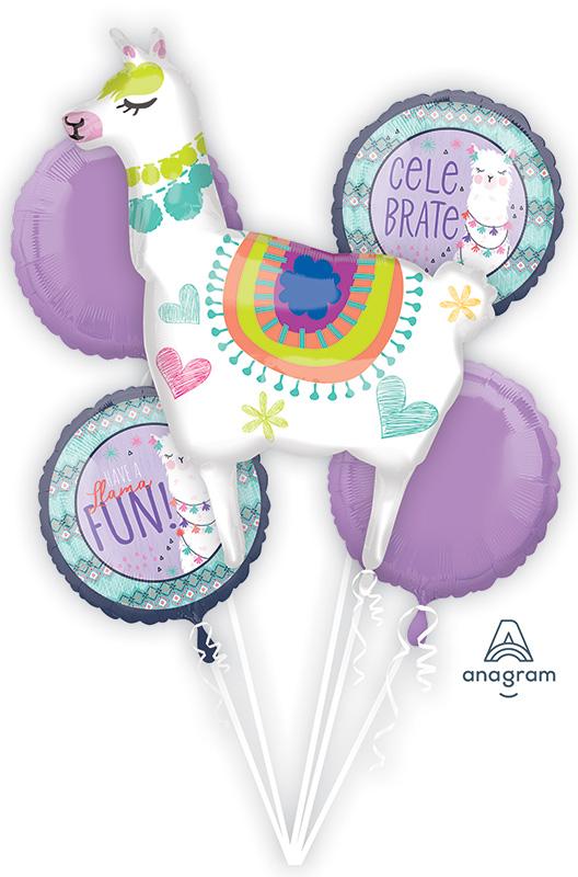 Bouquet Llama Fun Foil Balloon