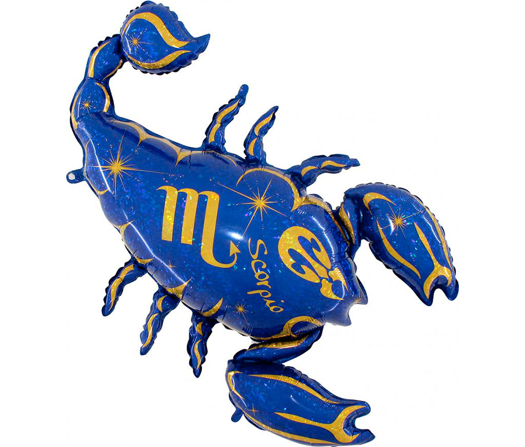"40"" Zodiac Sign Scorpio Blue Foil Balloon"