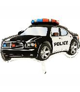 "31"" Police Car Black Foil Balloon"