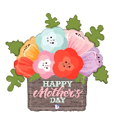 """32"""" Foil Rustic Mother's Day Flowers Foil Balloon"""