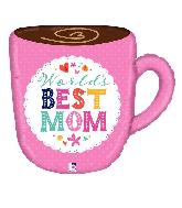 """28"""" Foil Best Mom Mug Foil Balloon"""