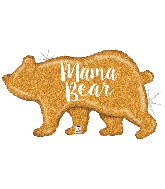 "39"" Holographic Mama Bear Foil Balloon"