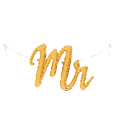 "39"" Air Filled Only Mr. Script Foil Balloon"
