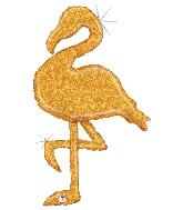 "53"" Holographic Gold Glitter Flamingo Foil Balloon"