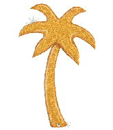 5' Foil Gold Palm Tree Balloon