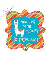 "18"" Holographic Llama Birthday Foil Balloon"