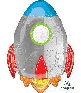 """29"""" Spaceship Foil Balloon"""