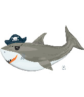 "41"" Ahoy Pirate Shark Balloon Foil Balloons"