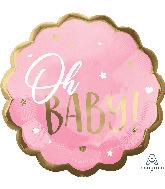"22"" Jumbo  Pink Baby Girl Foil Balloon"