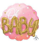 """28"""" Multi-Balloon Pink Baby Girl Foil Balloon"""