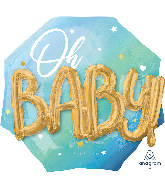 "30"" Multi-Balloon Blue Baby Boy Foil Balloon"