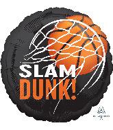 """18"""" Nothin' but Net Slam Dunk Basketball Foil Balloon"""