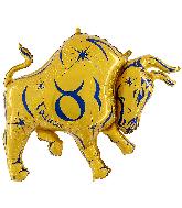 "40"" Zodiac Sign Taurus Gold Foil Balloon"