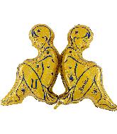 "40"" Zodiac Sign Gemini Gold Foil Balloon"