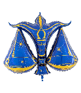 "40"" Zodiac Sign Libra Blue Foil Balloon"