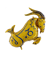"40"" Zodiac Sign Capricorn Gold Foil Balloon"